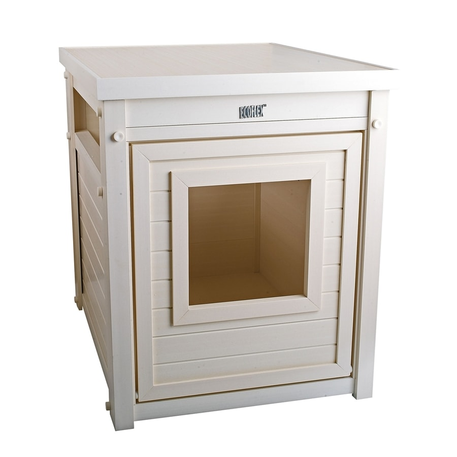 New Age Pet Antique White Hooded Litter Box