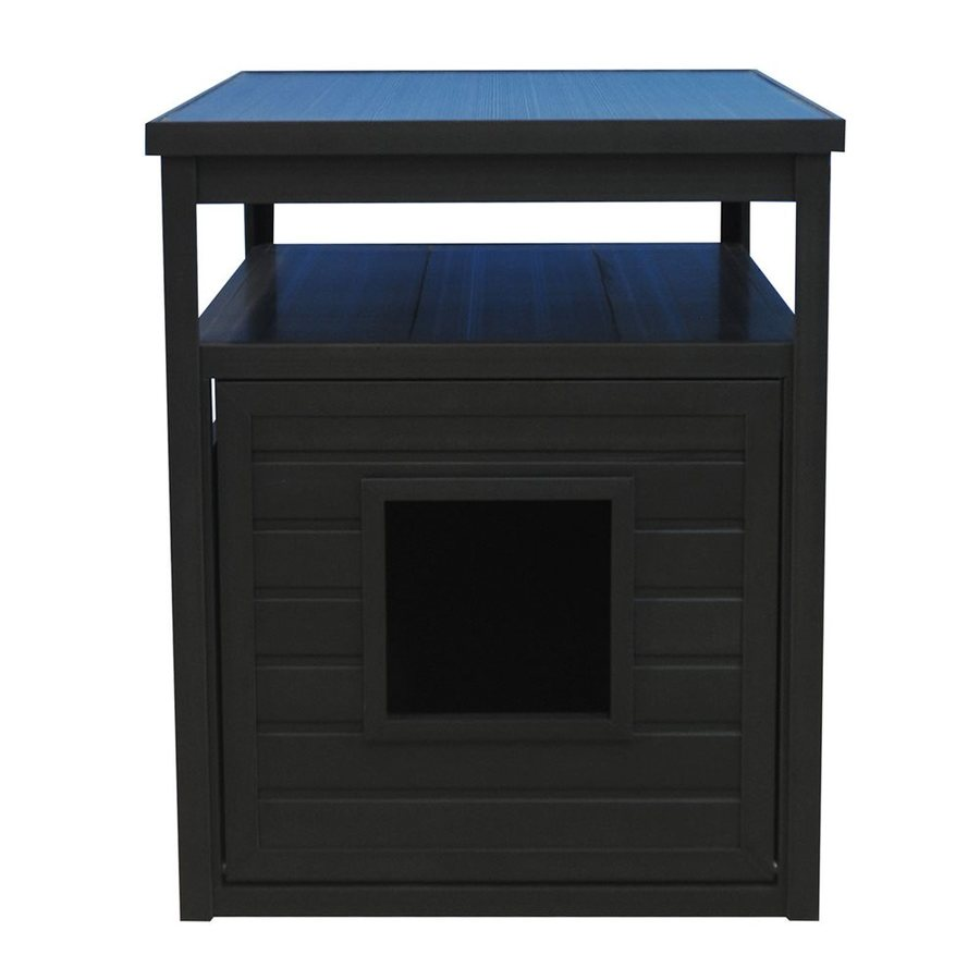 New Age Pet Espresso Black Hooded Litter Box