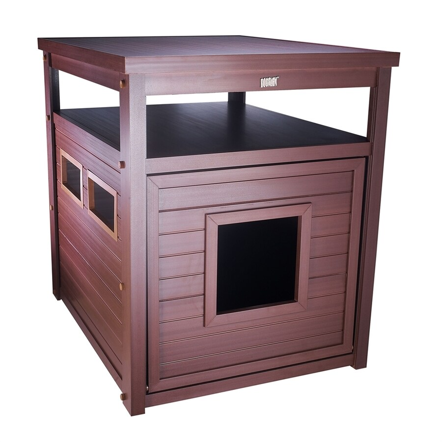 New Age Pet Russet Brown Hooded Litter Box