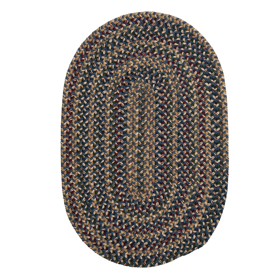 Colonial Mills Twilight Federal Blue Round Indoor Handcrafted Lodge Area Rug (4-ft Dia)