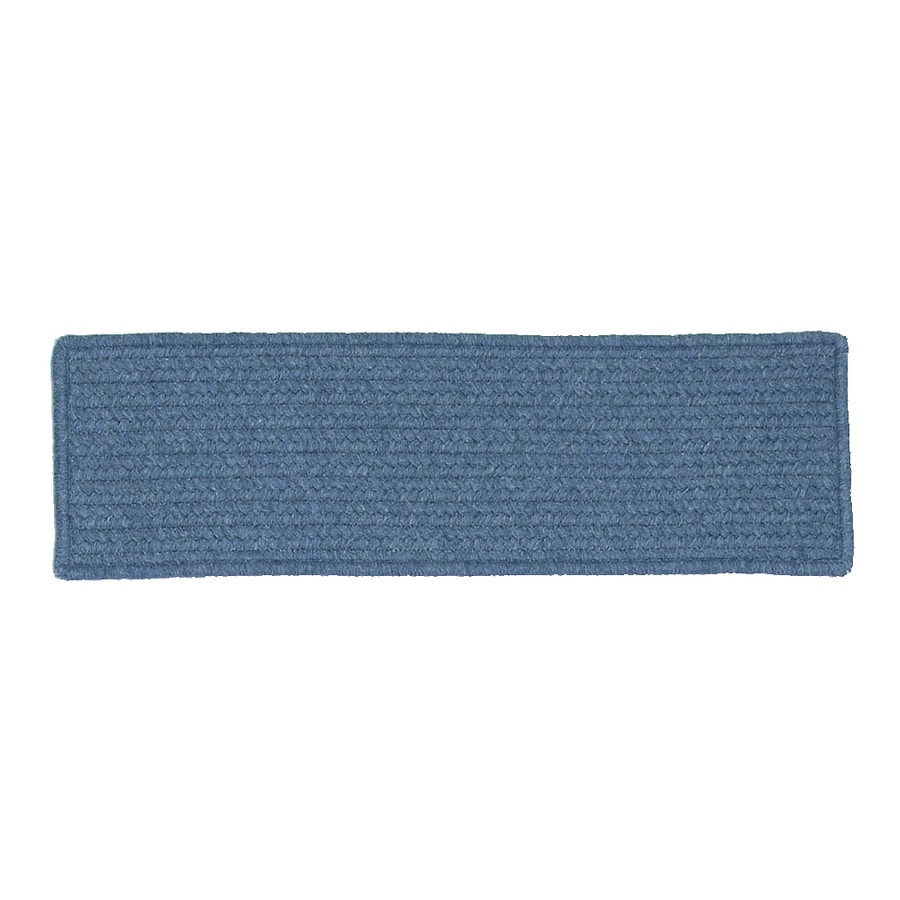 Colonial Mills Blue Rectangular Stair Tread Mat (Common: 1/2-ft x 2-1/4-ft; Actual: 8-in x 28-in)