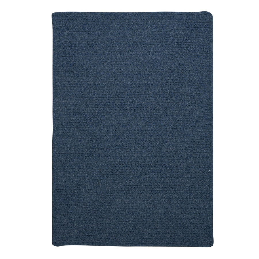 Colonial Mills Westminster Federal blue Rectangular Indoor Handcrafted Area Rug (Common: 4 x 6; Actual: 4-ft W x 6-ft L)
