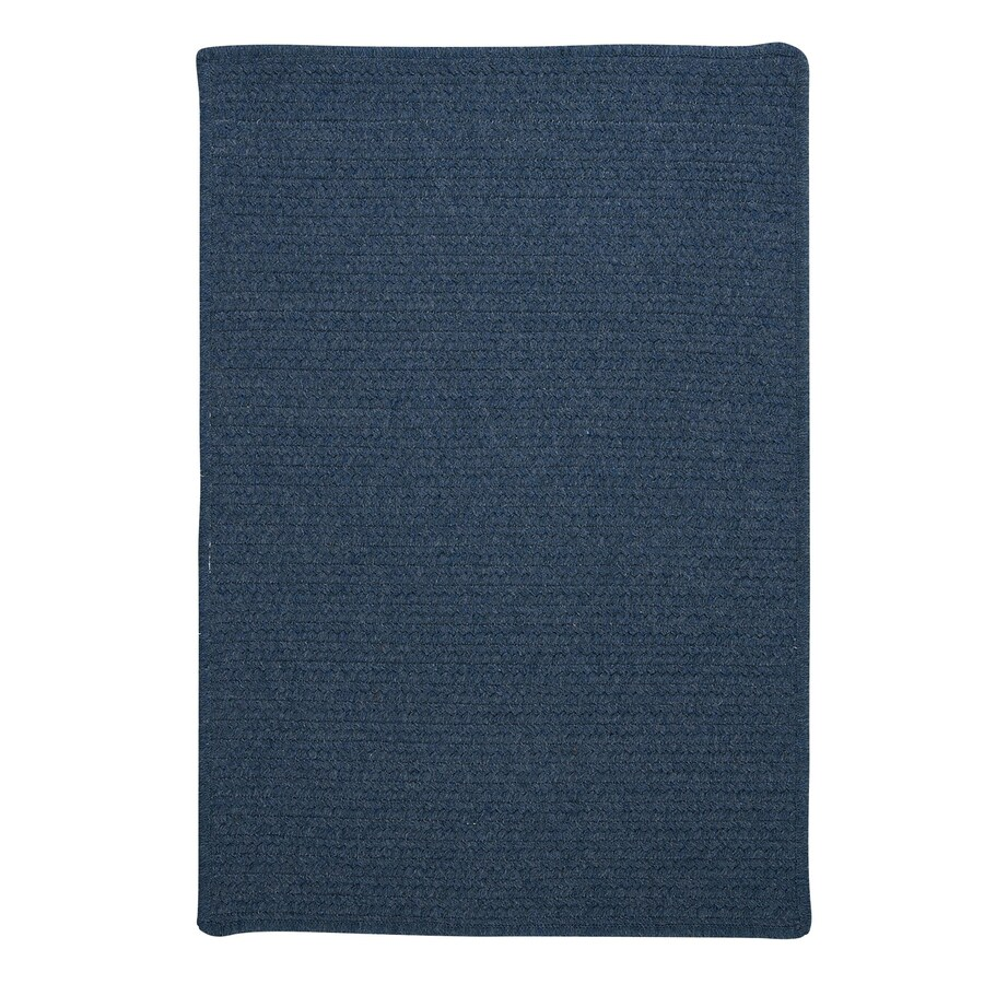 Colonial Mills Westminster Federal blue Square Indoor Handcrafted Area Rug (Common: 6 x 6; Actual: 6-ft W x 6-ft L)