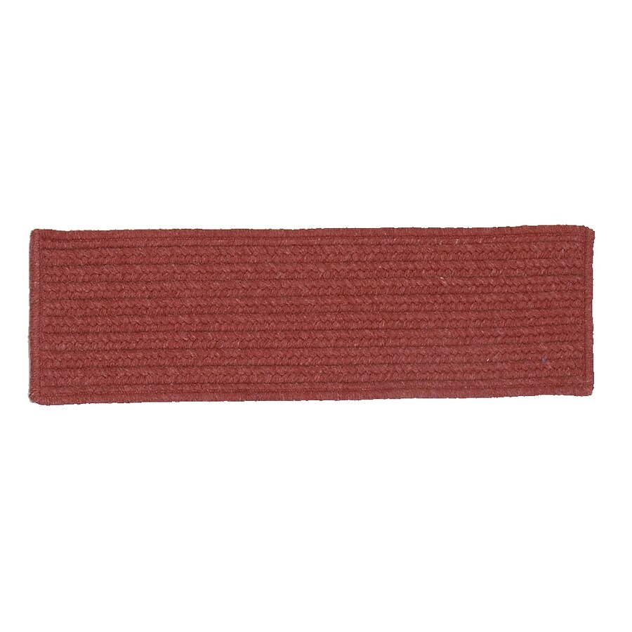 Colonial Mills Red Rectangular Stair Tread Mat (Common: 1/2-ft x 2-1/4-ft; Actual: 8-in x 28-in)
