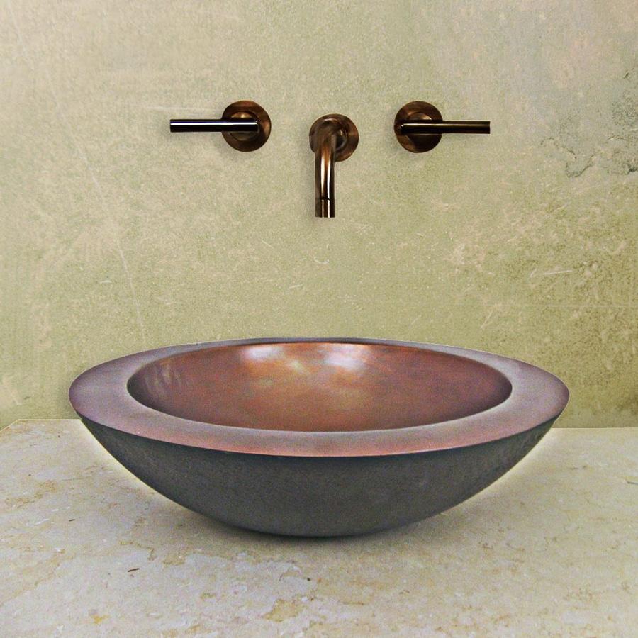 Terra-Acqua Santa Ynez Copper Vessel Round Bathroom Sink