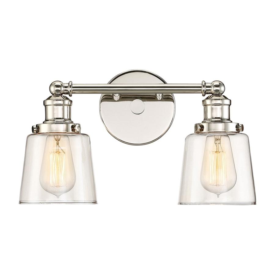 Quoizel Union 2-Light 9-in Polished nickel Bell Vanity Light