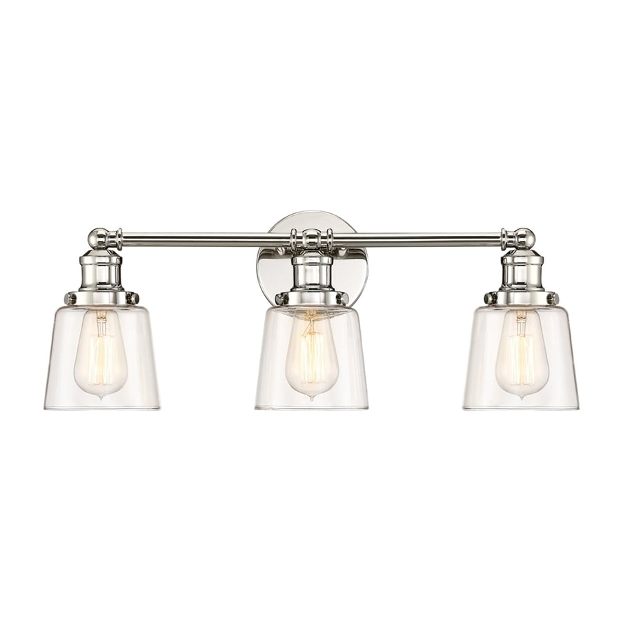Quoizel Union 3-Light 9-in Polished nickel Bell Vanity Light