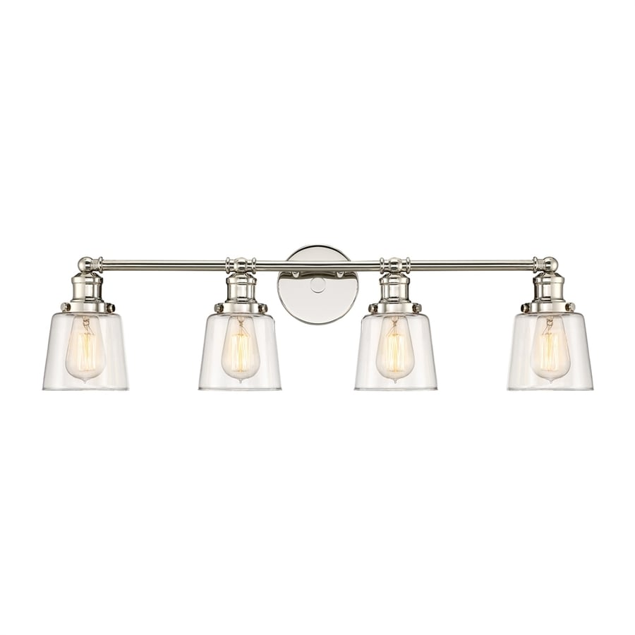 Quoizel Union 4-Light 9-in Polished Nickel Bell Vanity Light