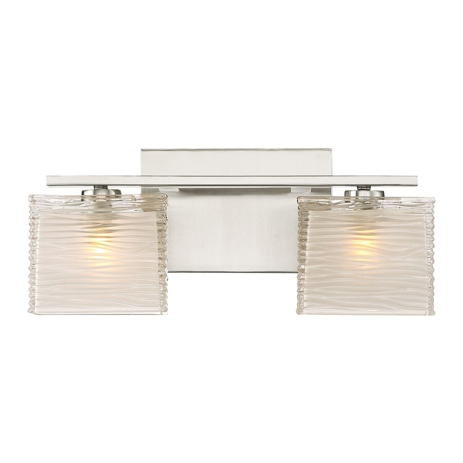 Quoizel Westcap 2-Light 6.75-in Brushed Nickel Square Vanity Light