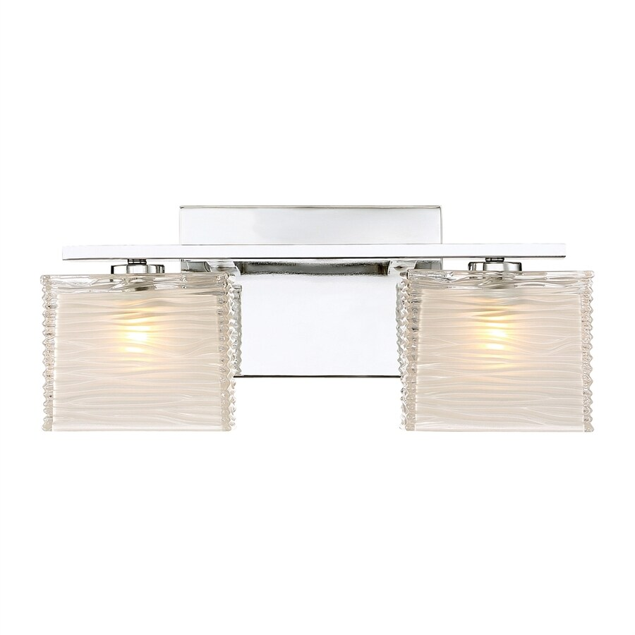 Shop Quoizel Westcap 2-Light 6.75-in Polished chrome Square Vanity Light at Lowes.com