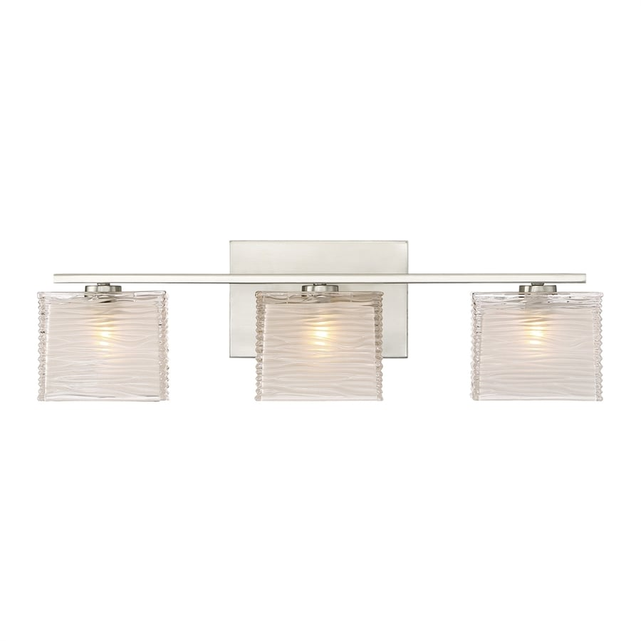 Quoizel Westcap 3-Light 6.75-in Brushed Nickel Square Vanity Light
