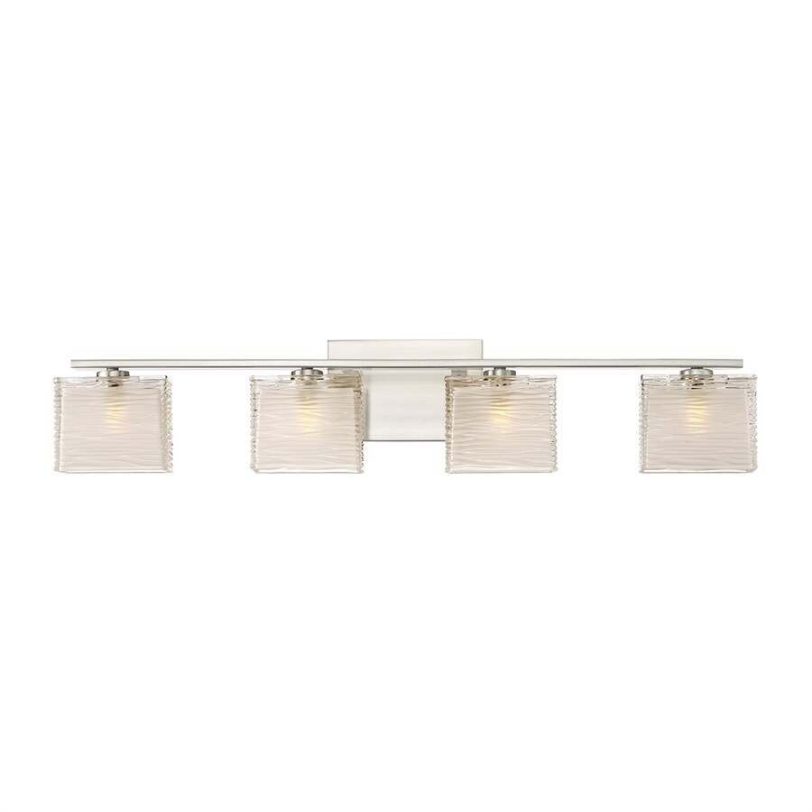 Quoizel Westcap 4-Light 6.75-in Brushed Nickel Square Vanity Light