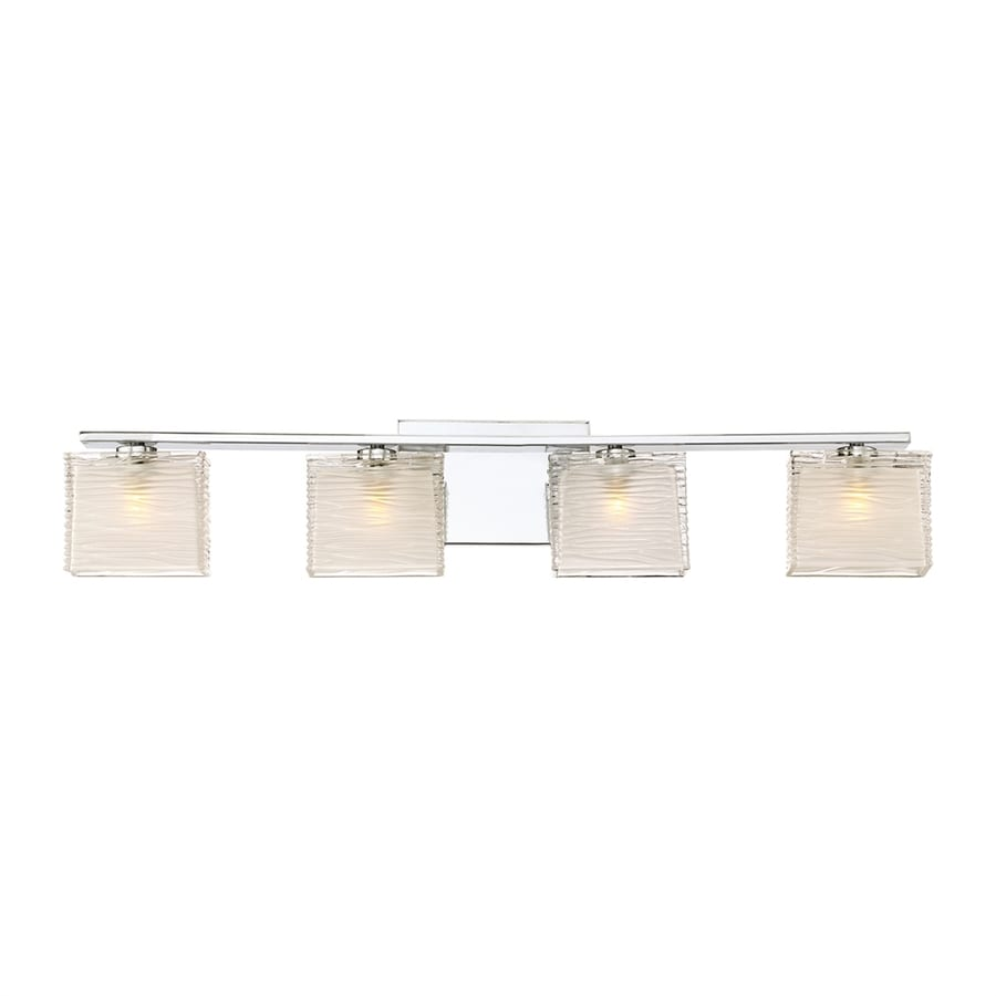 Quoizel Westcap 4-Light 6.75-in Polished Chrome Square Vanity Light