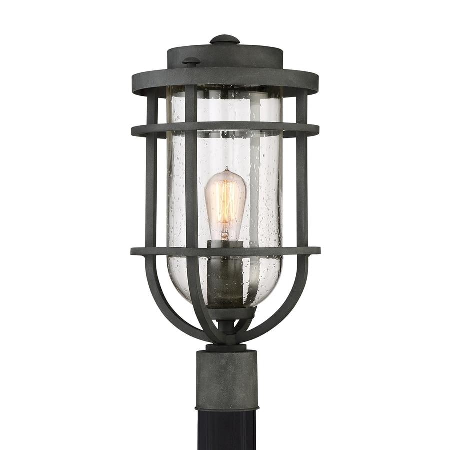 Quoizel Boardwalk 19.25-in H Mottled Black Post Light