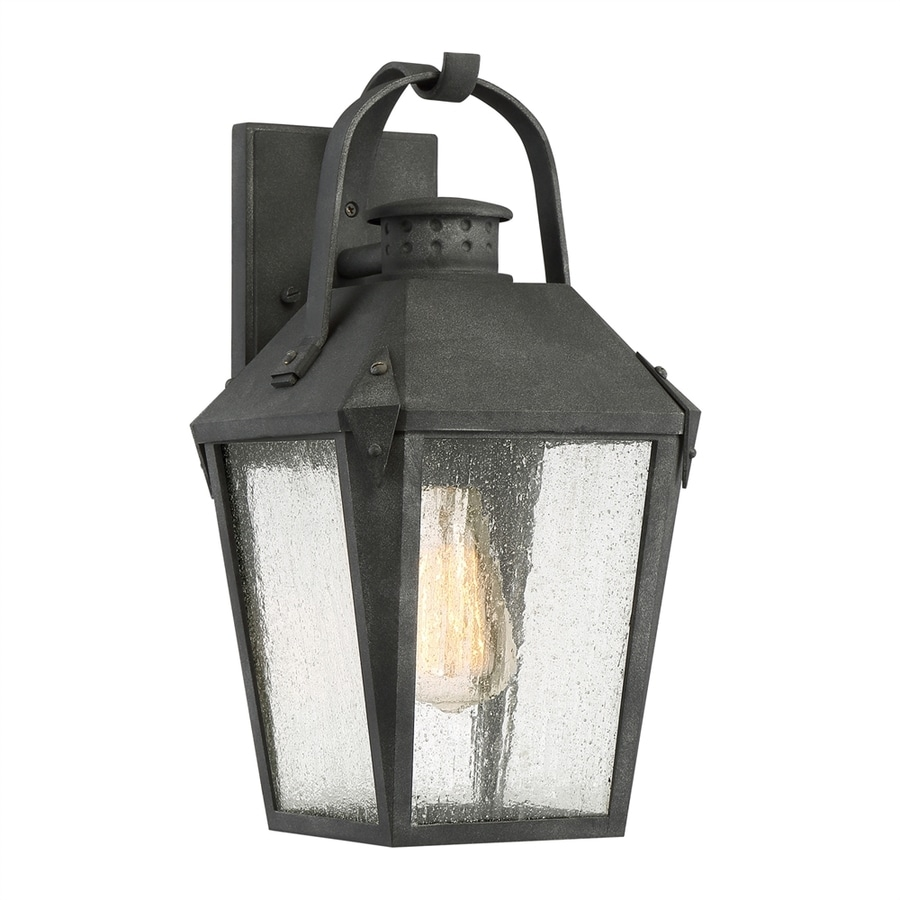 Quoizel Carriage 15-in H Mottled Black Outdoor Wall Light