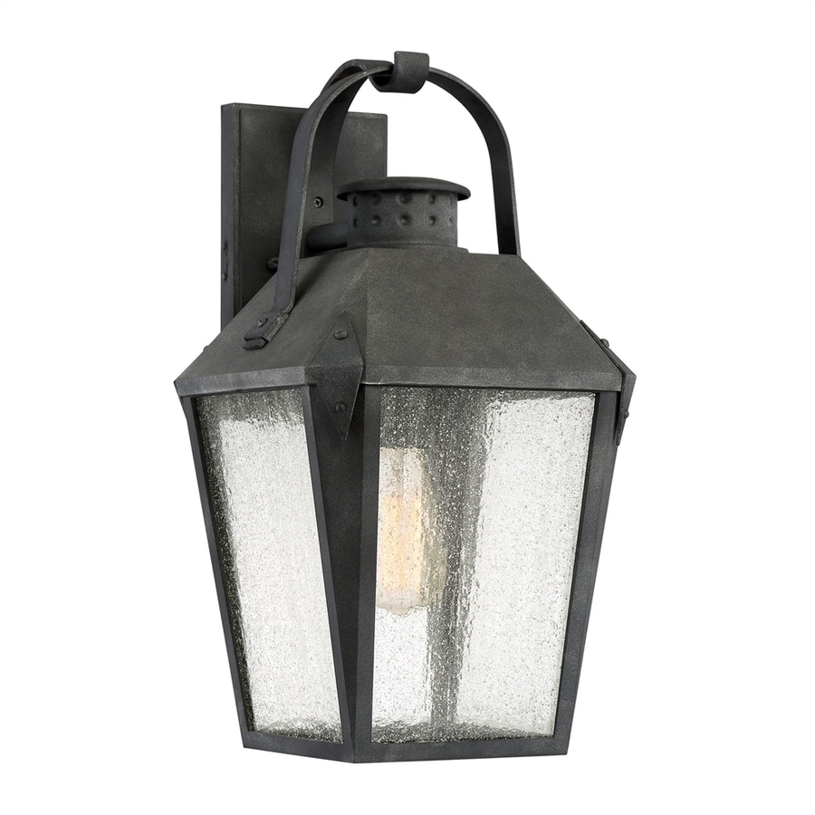Quoizel Carriage 19-in H Mottled Black Medium Base (E26) Outdoor Wall Light