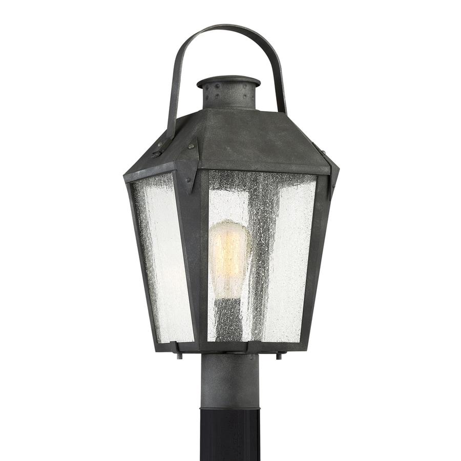 Quoizel Carriage 21.75-in H Mottled Black Post Light