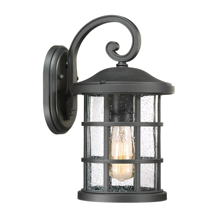 Quoizel Crusade 14.25-in H Earth Black Outdoor Wall Light