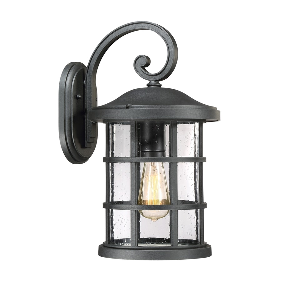 Quoizel Crusade 17.75-in H Earth Black Outdoor Wall Light