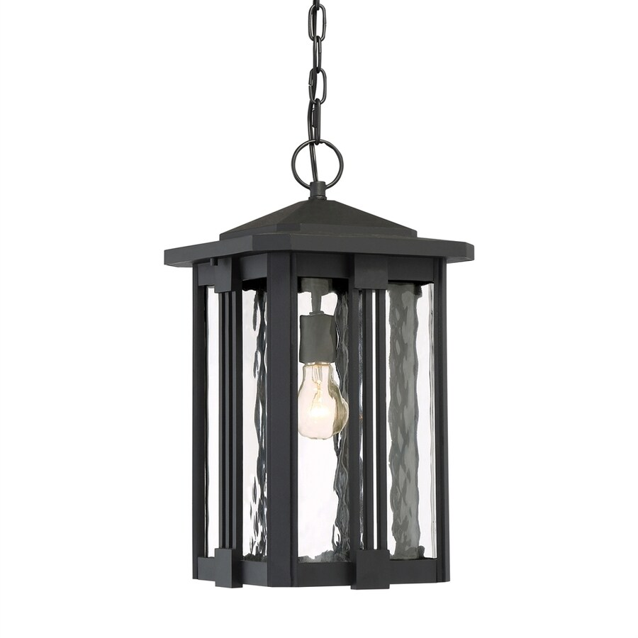 Quoizel Everglade 18.75-in Earth Black Outdoor Pendant Light
