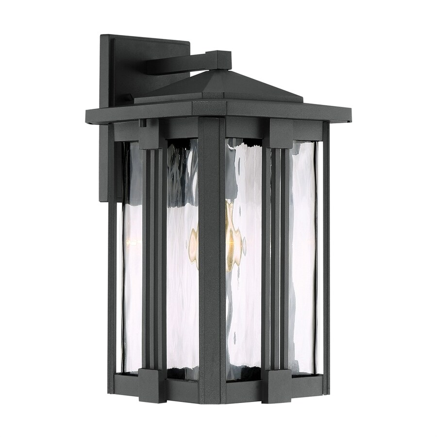 Quoizel Everglade 15-in H Earth Black Medium Base (E26) Outdoor Wall Light