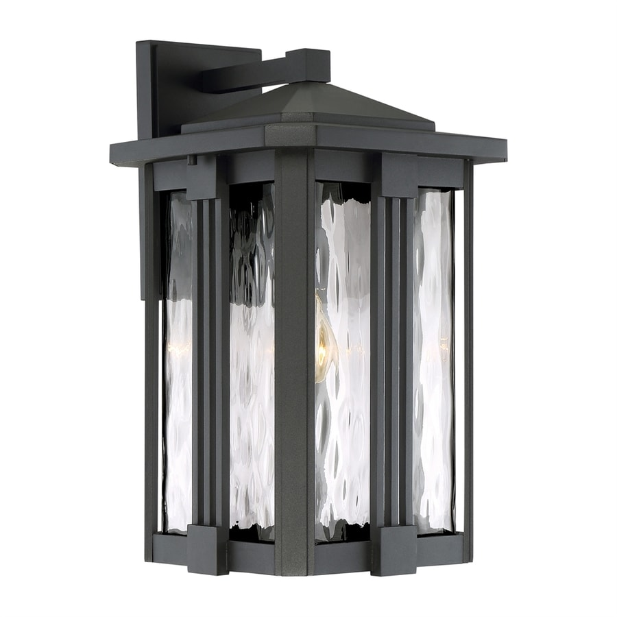 Quoizel Everglade 18-in H Earth Black Outdoor Wall Light