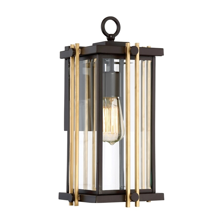 Quoizel Goldenrod 16.25-in H Western Bronze Outdoor Wall Light