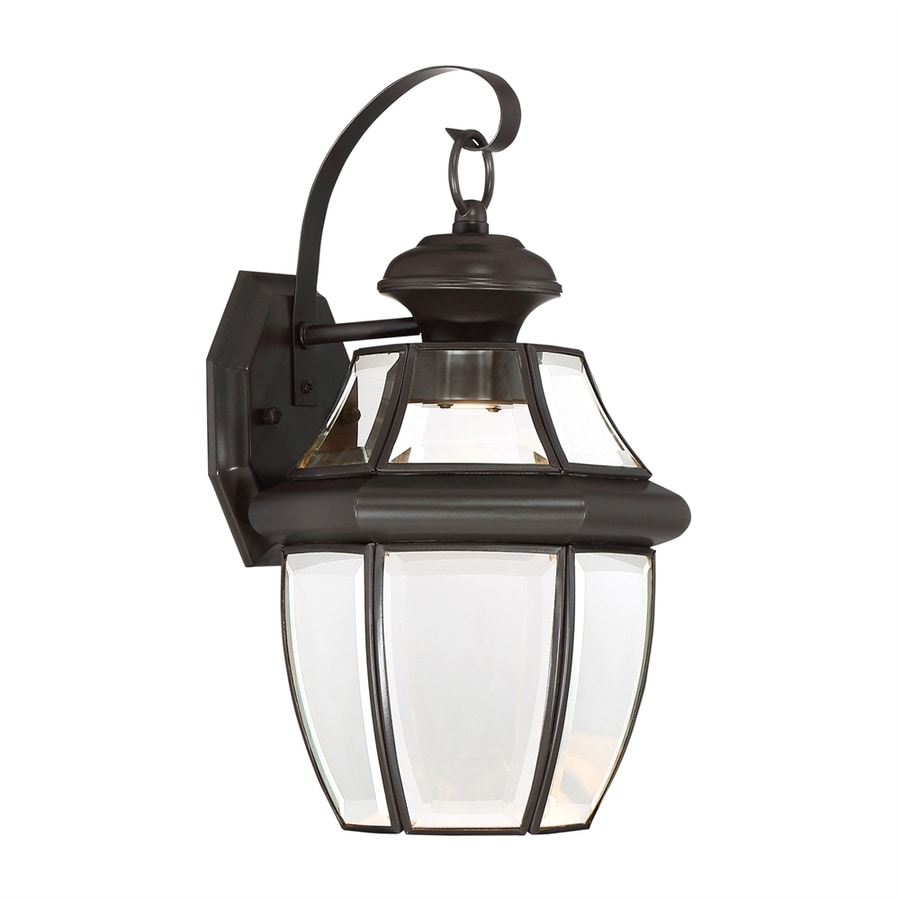 Quoizel Newbury Clear 14-in H Medici Bronze LED Outdoor Wall Light