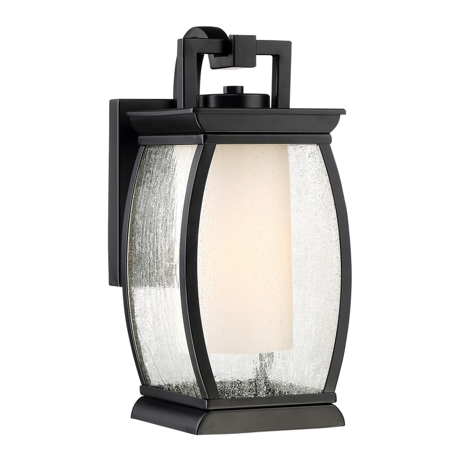 Quoizel Terrace 12-in H Mystic Black Outdoor Wall Light