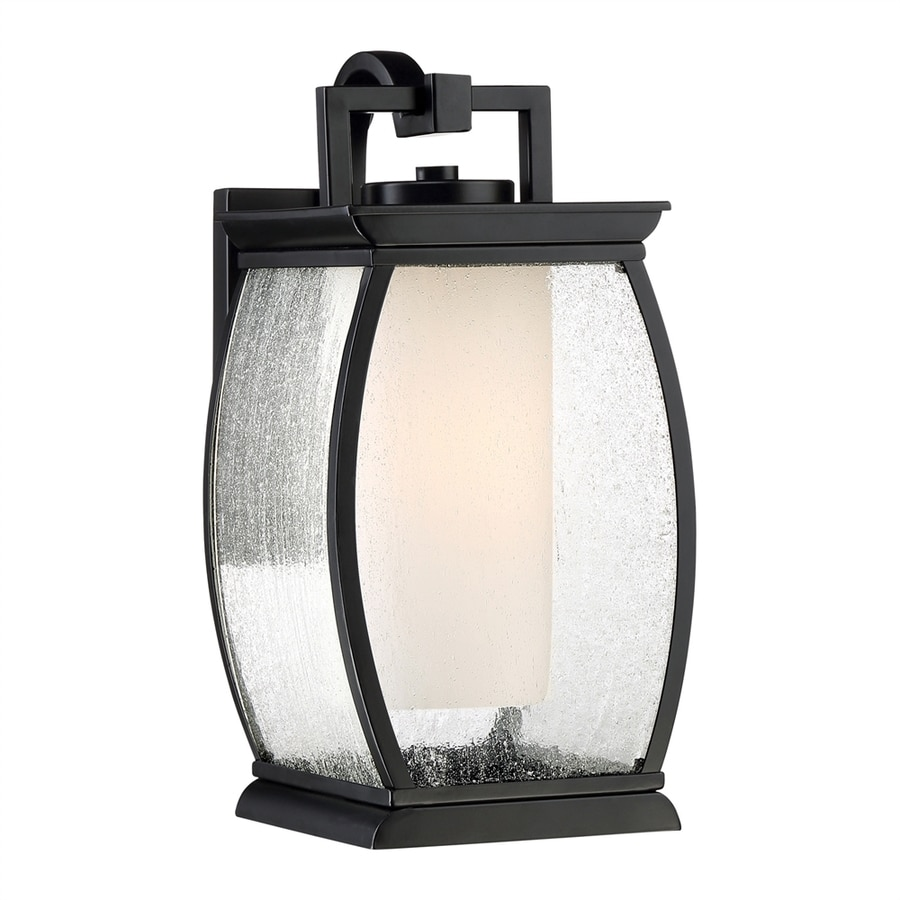 Quoizel Terrace 14-in H Mystic Black Medium Base (E26) Outdoor Wall Light