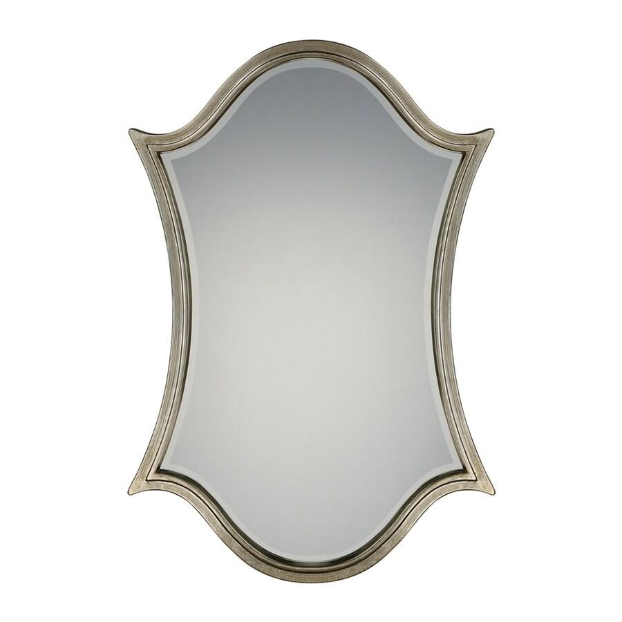 Quoizel Vanderbilt Century Silver Leaf Beveled Arch Wall Mirror
