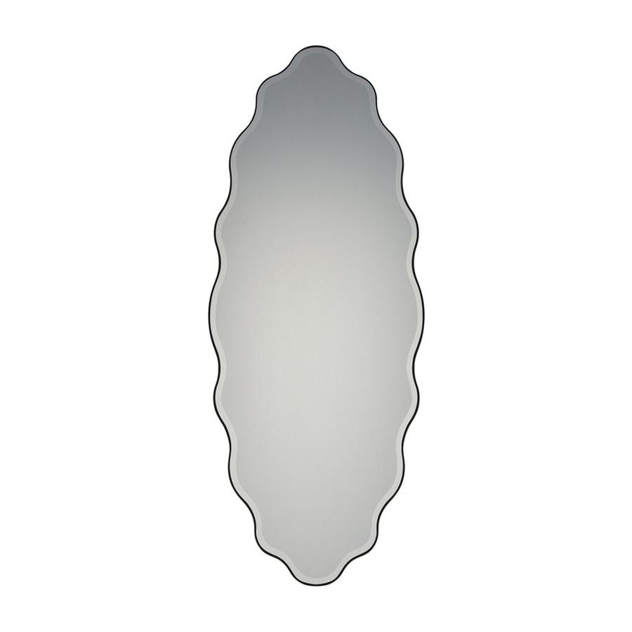 Quoizel Artiste Black Beveled Oval Wall Mirror