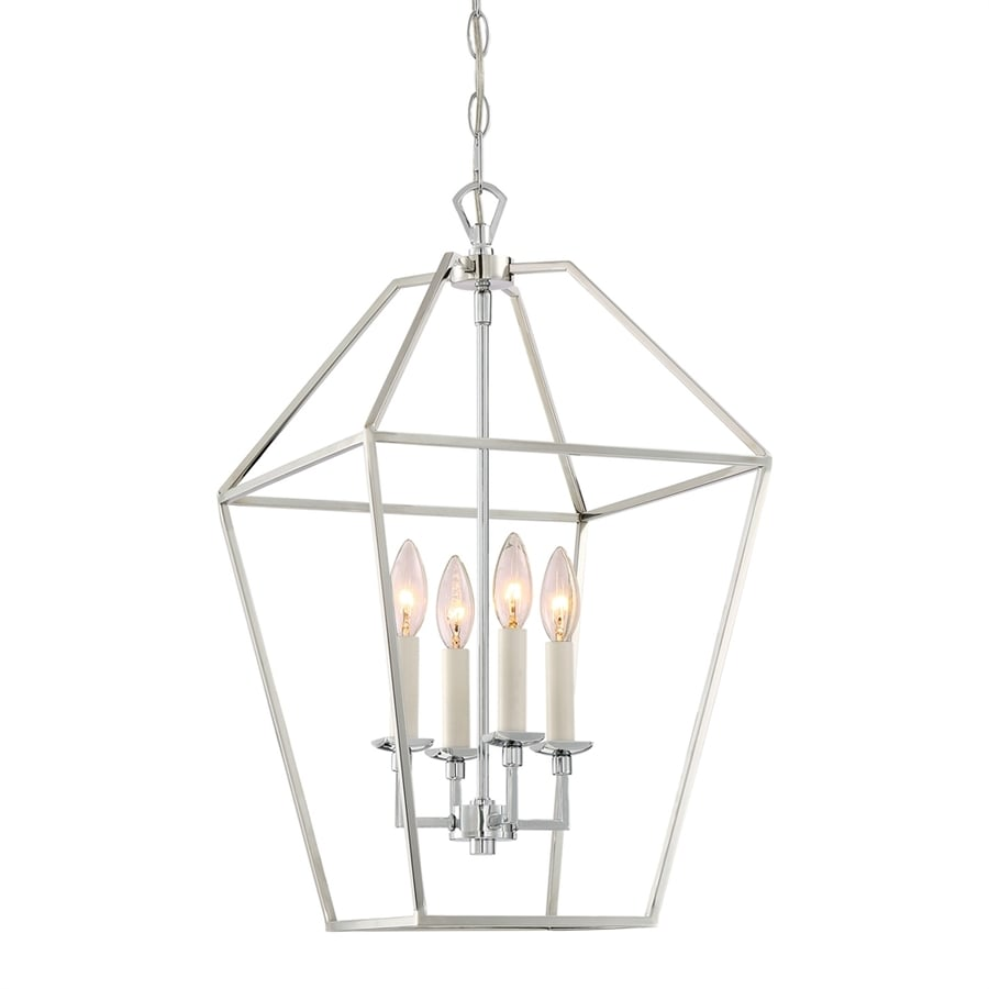 Quoizel Aviary 13-in Polished Nickel Vintage Single Cage Pendant