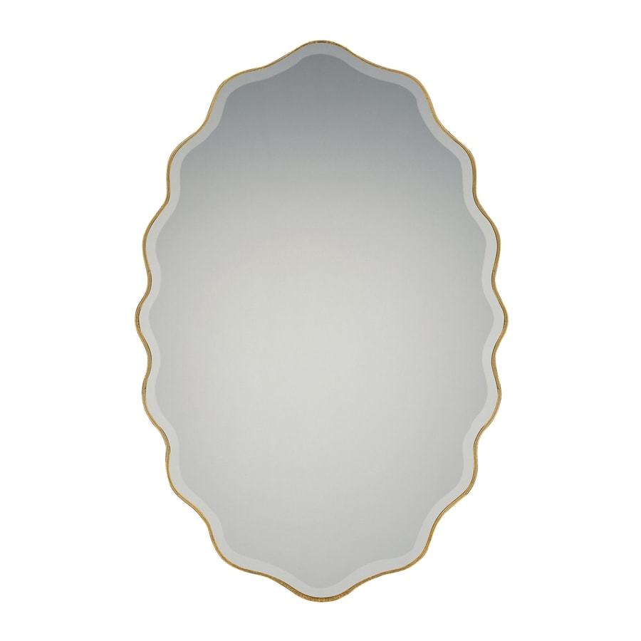 Quoizel Artiste Gold Beveled Oval Wall Mirror