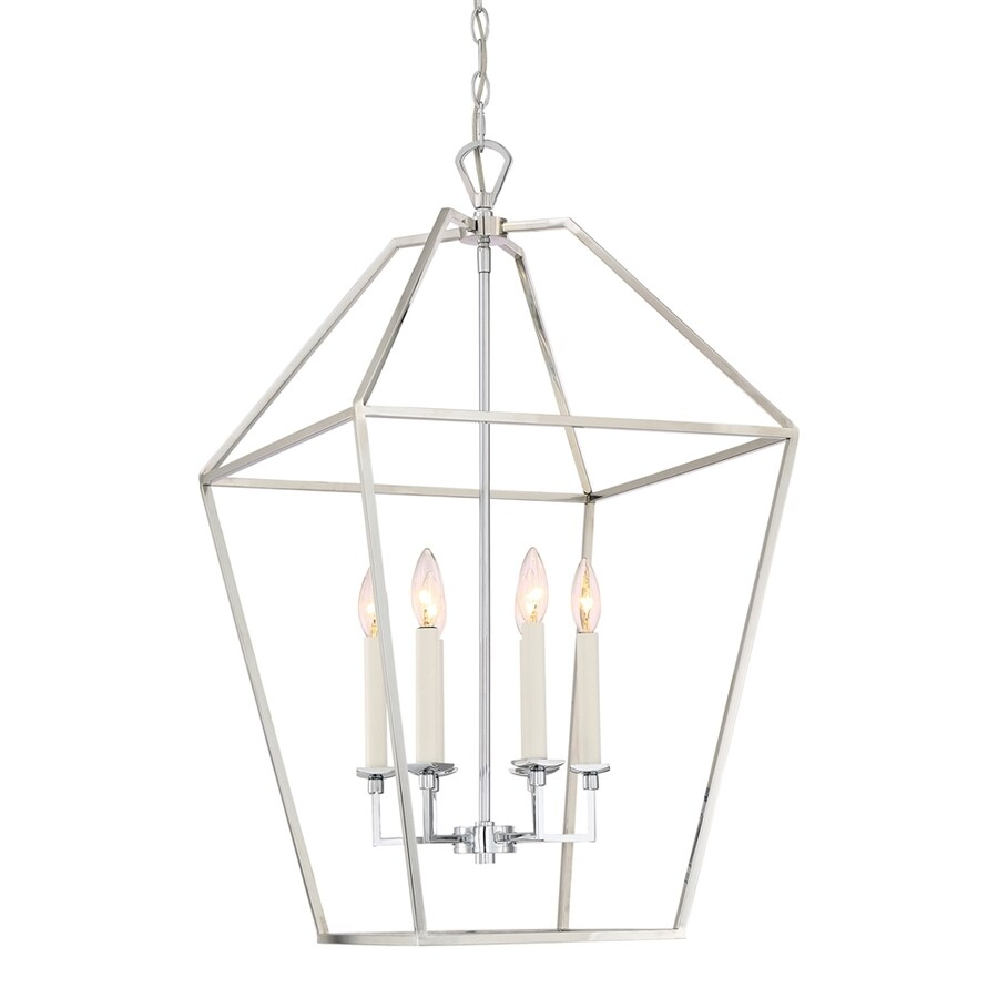 Quoizel Aviary 20.25-in Polished Nickel Vintage Single Cage Pendant