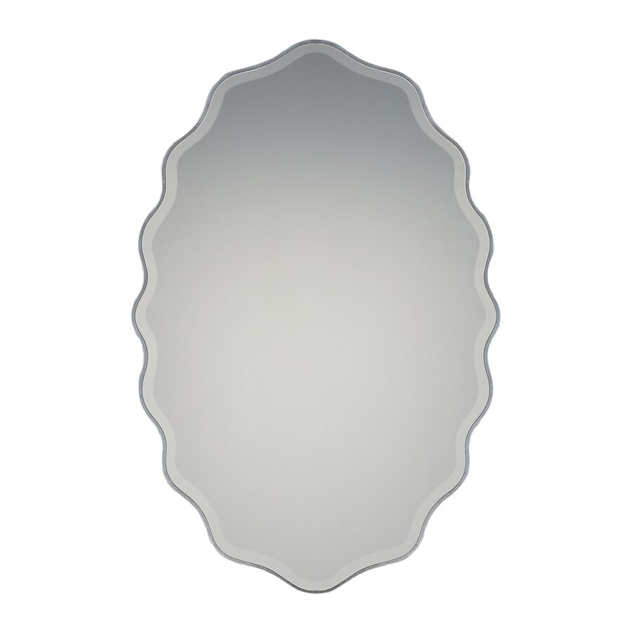 Quoizel Artiste Silver Beveled Oval Wall Mirror