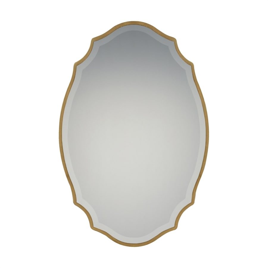 Quoizel Monarch Gold Beveled Oval Wall Mirror