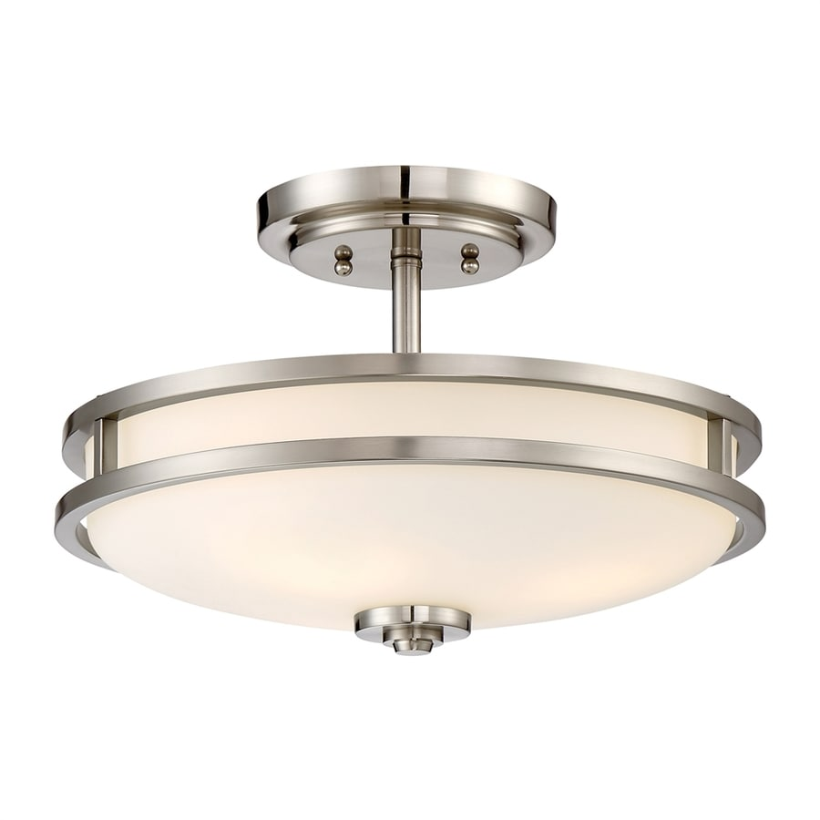 100 Shop Semi Flush Mount Lights Shop Classic Lighting Petite Fleur 6 In W Antique White Metal