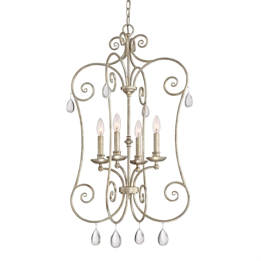 Quoizel Chantelle 20.5-in 4-Light Vintage gold Vintage Candle Chandelier