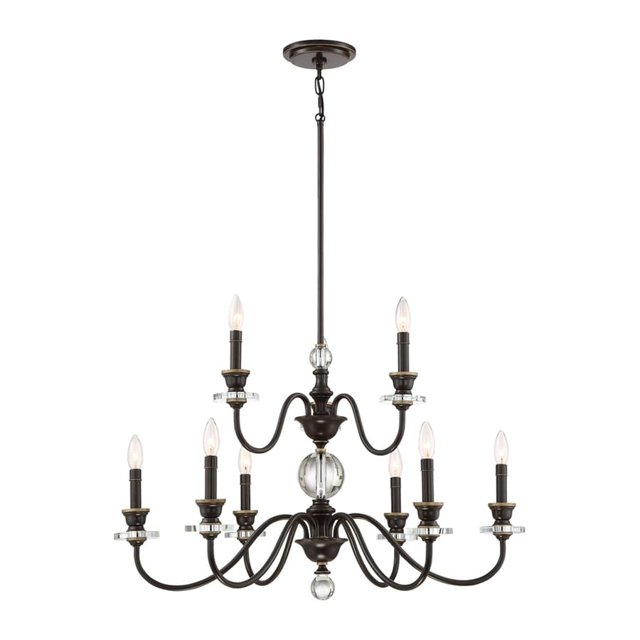 Quoizel Ceremony 32-in 9-Light Palladian bronze Candle Chandelier