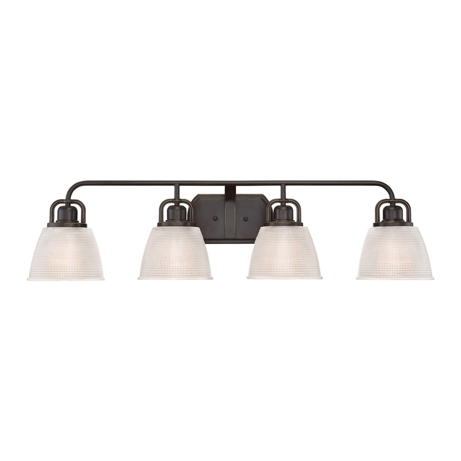 Quoizel Dublin 4-Light 8.75-in Palladian bronze Bell Vanity Light