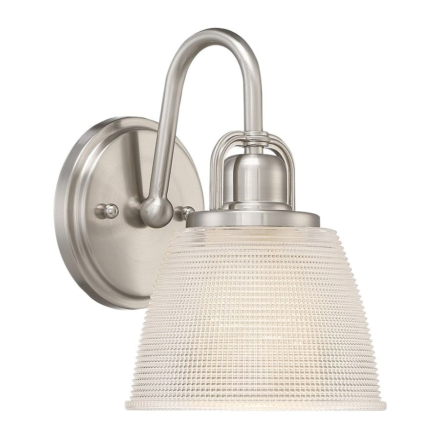 Quoizel Dublin 1-Light 9.75-in Brushed Nickel Bell Vanity Light
