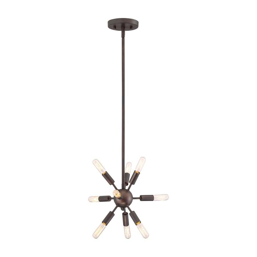 Quoizel Limelight 16-in Palladian Bronze Industrial Single Pendant
