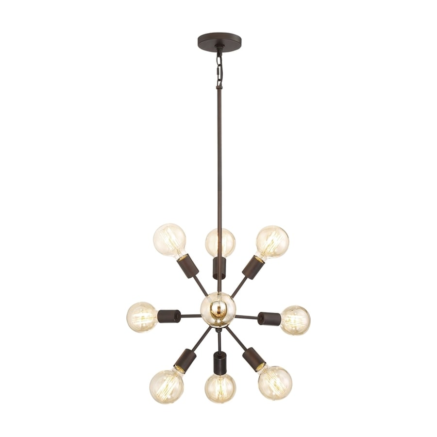 Quoizel Limelight 24-in Palladian Bronze Industrial Single Pendant