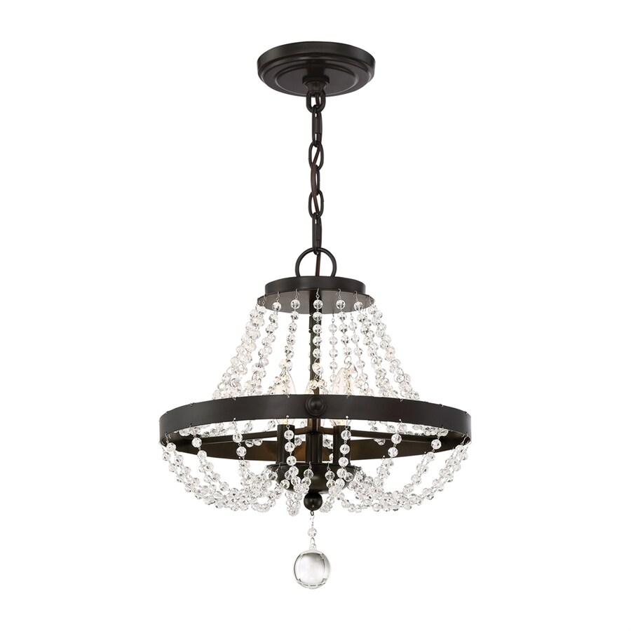 Quoizel Livery 16.5-in 3-Light Western Bronze Crystal Hardwired Empire Chandelier