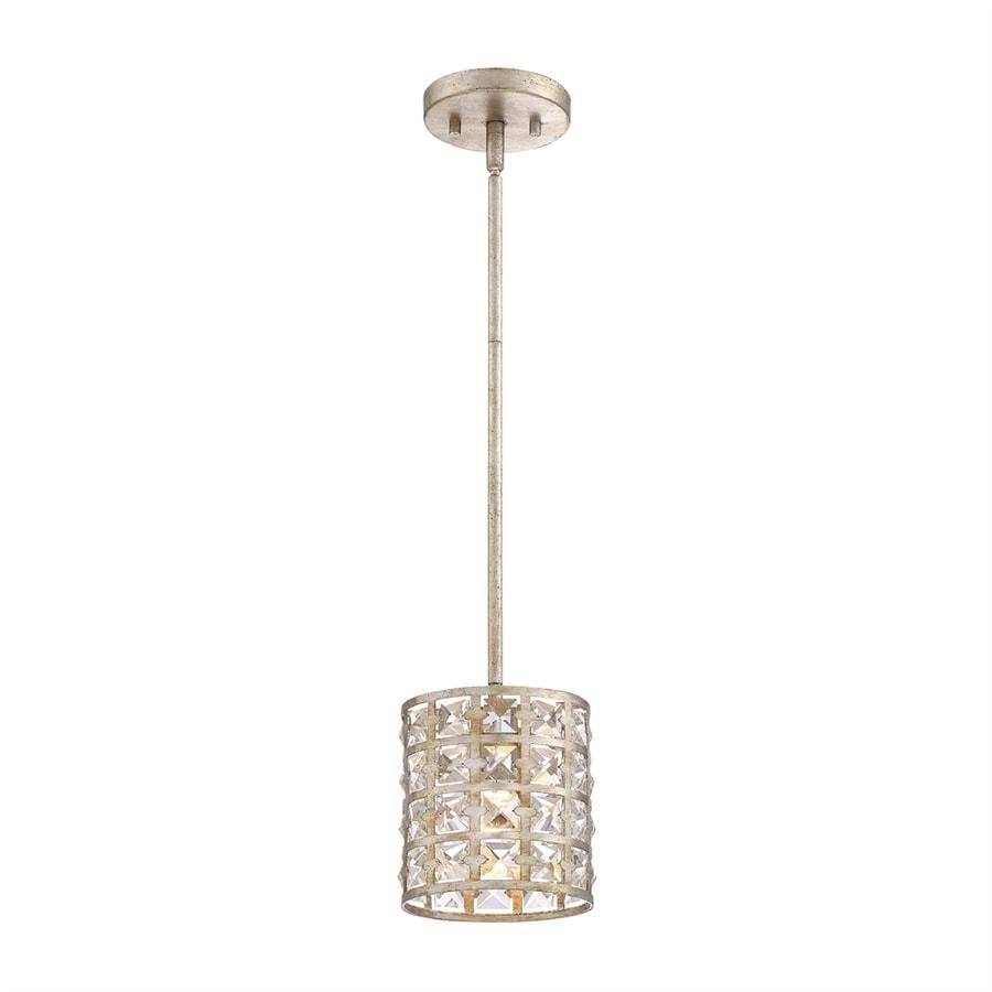 Quoizel Luxury 6-in Vintage Gold Mini Crystal Cylinder Pendant