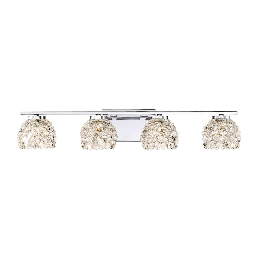 Quoizel Meridian 4-Light 5.5-in Polished Chrome Dome Vanity Light