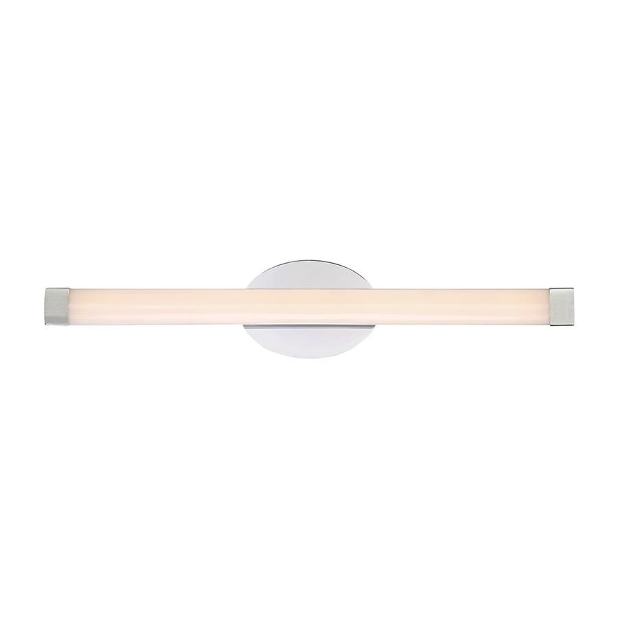 Quoizel Beam 1-Light 5-in Polished chrome Cylinder LED Vanity Light Bar