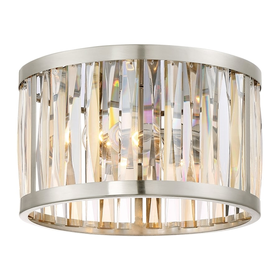 Quoizel Ballet 13.25-in W Brushed Nickel Flush Mount Light