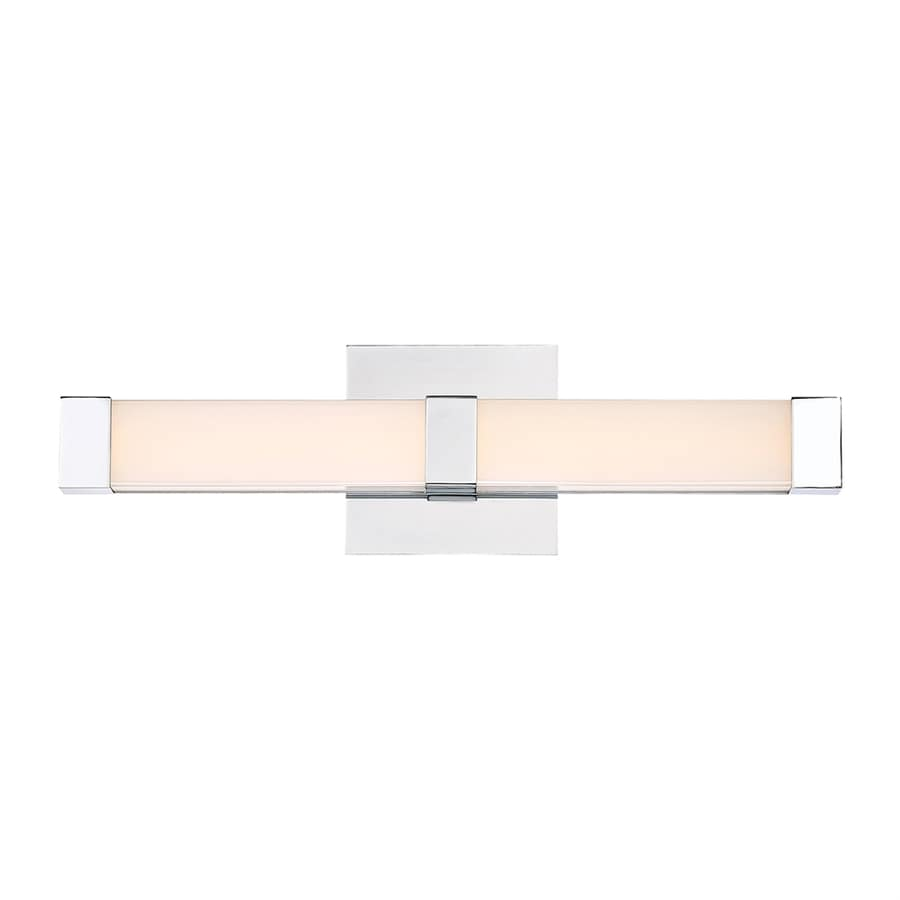 Quoizel Emblem 1-Light 5-in Polished Chrome Rectangle LED Vanity Light Bar